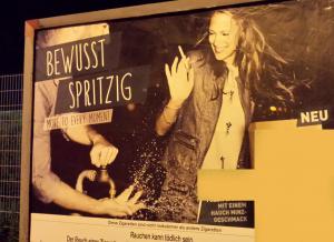 Aktuelles Werbeplakat von Pall Mall